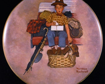 Scotty's Stowaway - Norman Rockwell Collector's Plate
