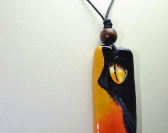 Handmade Jewelry, Air Dry Clay Necklace, Clay Jewelry, Painting Necklace, Cat Painting Necklace