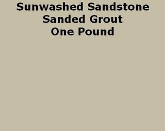 Sunwashed Sandstone SANDED Grout - 1 Pound for Walls, Floors, Counter Tops, Backsplashes, Tubs, Showers, Mosaics