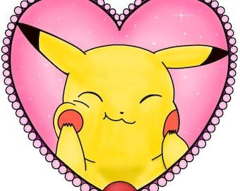 Pikachu Tattoo design (8X10 GLOSSY PRINT)