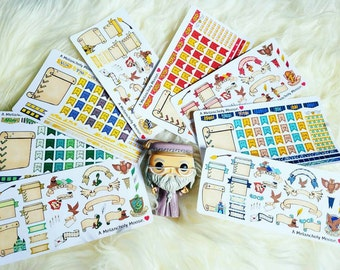 Wizarding House Bullet Journal Sticker Kits- Hand Drawn Inspired Stickers (Choose Your House)