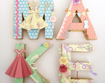 MAKE Letters, sewing room/craft room decor