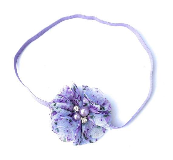 Lilac Headband, Flower Headband Baby, Baby Headband, Flower Headband, Baby Headband Baby, Infant Headbands, Newborn Headband, Baby Headbands