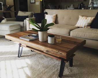 Reclaimed Wood Coffee Table On Image of Design