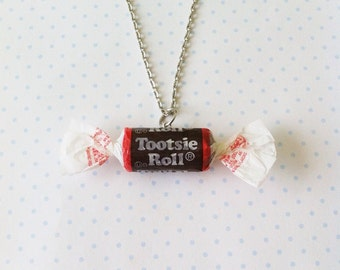Tootsie-Roll necklace, polymerclay