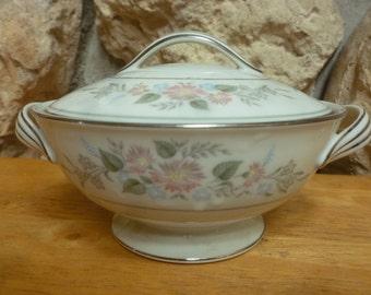 Noritake Romance Sugar Bowl with lid pattern 6022 1959 to 1971