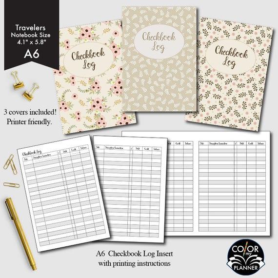 checkbook register covers