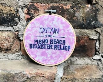 Captain of the Pismo Beach Disaster Relief Clueless Embroidery
