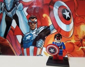 Falcon Captain America Minifigure Marvel Comics Sam Wilson Avenger Civil War (LEGO Compatible)