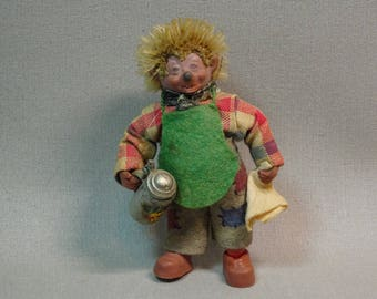 Steiff Mecki Hedgehog Bartender Mini Doll