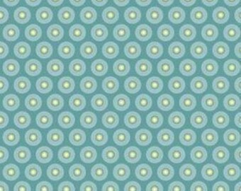 Quiltsy Destash Party Riley Blake Penny Lane Starburst Fabric in Blue