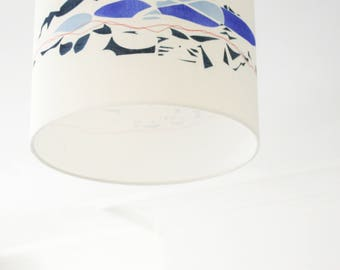 Original Hand printed Linen Lampshade: made to order
