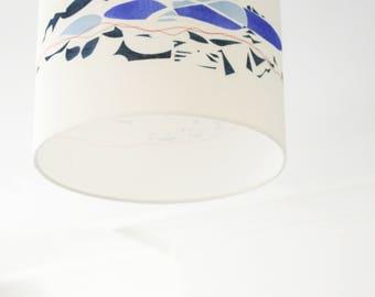 Original Hand printed Linen Lampshade