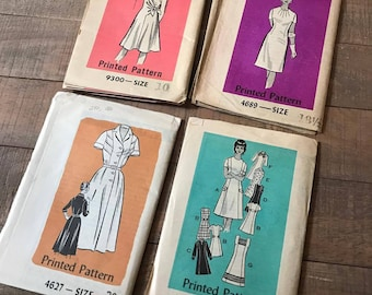 Vintage Sewing Patterns, Set of Four, SN04
