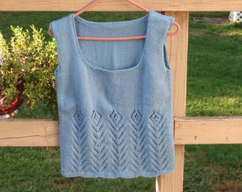 Sleeveless Blue Women's Sweater