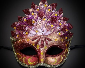 Masquerade Mask, Mardi Gras Mask, Masquerade Ball Mask, Masquerade Mask, Costume Mask, Fifty Shades of Red Mask