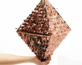 Rose Gold Foil Diamond Wedding Piñata 18 inches