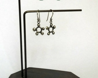 Contemporary Handmade Two Stem Brass Earring Stand