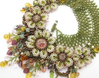 White Anemone Necklace