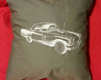 pillow cover Thunderbird antique car embroidered throw cushion cover