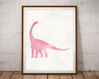 Dinosaur Print - Dinosaur Decor - Dinosaur Nursery - Dinosaur Wall Art - Dinosaur Nursery Art - Nursery Decor - Baby Girl Nursery - Dino Art