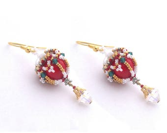 """Beading4perfectionists: """"Dangle Bell's"""" earrings beading pattern tutorial PDF file"""