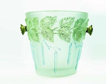 Antique Lalique Style Glass Champagne Cooler