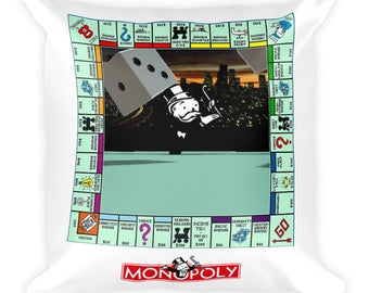 Monopoly Game Square Pillow
