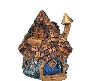 My Fairy Gardens  Mini - Micro Mini Shingletown Cone Top Fairy House - Miniature Supplies Accessories Dollhouse