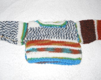 """Handmade Peruvian color sweater for 18"""" doll"""