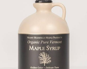 Mansfield Maple Half Gallon Certified Organic Pure Vermont Maple Syrup (Choice of Grade)
