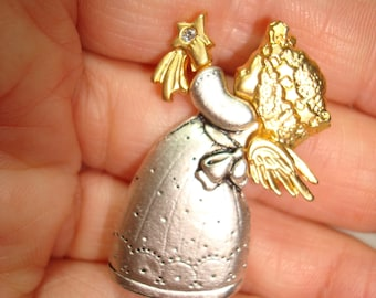 Vintage DANACRAFT Littlest Angel Guardian Angel pin.