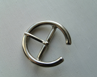 Belt buckle and/or strap Silver 3.8 cm * 2.8 cm * 3.9 cm