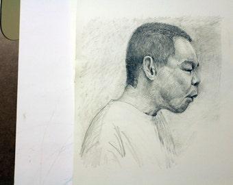 Custom Hand Drawn Portrait Made To Order