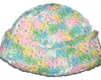 Cuffed Hat Young Girl's Crochet Hat Elementary  School Girl 's Hat