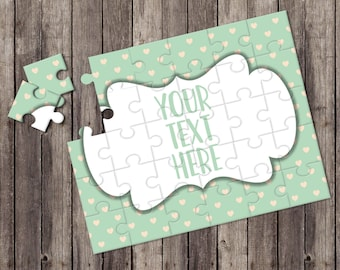 Create Your Own Puzzle - Pregnancy Announcement - Custom Puzzle - Personalized Puzzle - Announcement Ideas - Wedding Announcement - CYOP0204