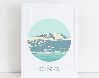 Mountain Art   Ben Nevis Print   Outdoor Adventure   Mountain Print