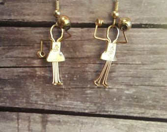 Volleyball Player Earrings