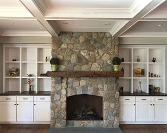 Items similar to Fireplace Mantel with Corbels With Custom Crown