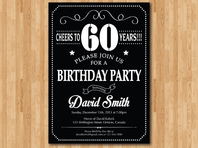 60th birthday invitation chalkboard black white and red 30th zoom filmwisefo