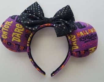 Halloween Words Mickey Ears
