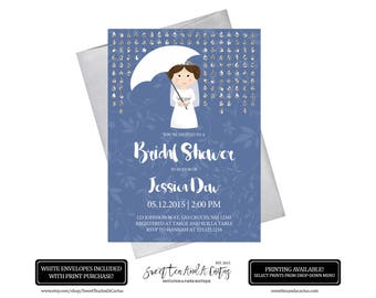 Space Wars Bridal Shower Invitation Wedding Printable Card - Geeky wedding invitation templates