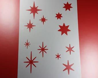 Template Glitter star set stars star Star-BA61