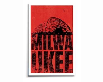 Milwaukee Wisconsin Domes - Grunge