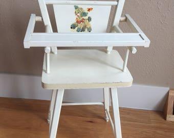 Vintage Doll High Chair   50u0027s   Baby Doll High Chair   Wood High Chair