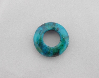 Pearl ring made of genuine Azurite chrysocolla 20 mm. (9075811)