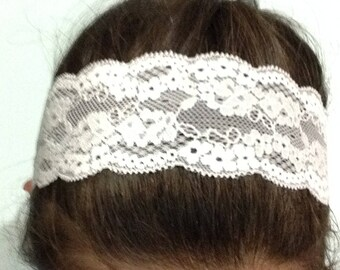 Lace Headband, easter, Athletic headband, workout, elegant, spring flowers, womens, gifts for teens, yoga headbands, white, gifts for her