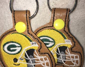 Green Bay Packers Helmet Keychain