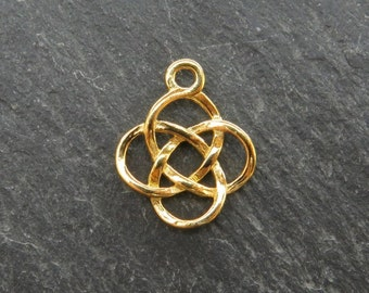 Gold over 925 Sterling Silver Celtic Pendant 14.5mm