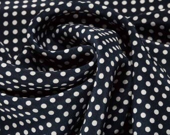 Jasper Conran 100% Silk Fabric Polka Dot Fabric Apparel Fabric Quilting Fabric Fabric By The Meter Upholstery Fabric Craft Supplies